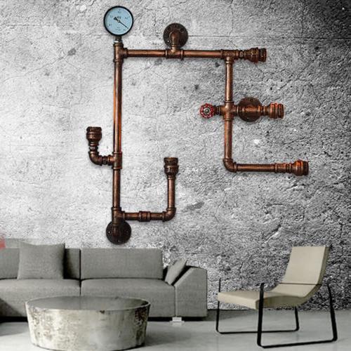 steam punk loft industrial iron water pipe