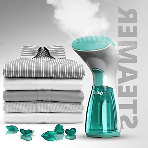 XROOL Steamer for Clothes Mini Garment Steamer and Home - Spitting, Compact, Steam Wrinkle Remover Clothing, Any Fabric Dress, Cord Hand