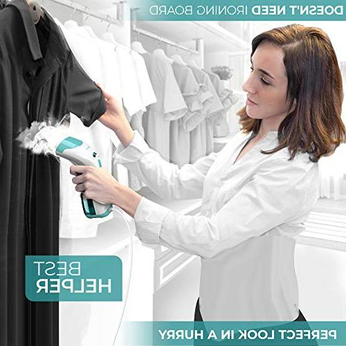 XROOL Steamer for Clothes Mini - Portable, Handheld and Home - Spitting, Compact, Steam Iron Wrinkle Any Fabric Long Cord Held