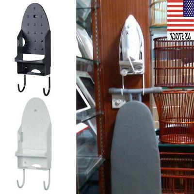 wall mount iron ironing board hanging holder