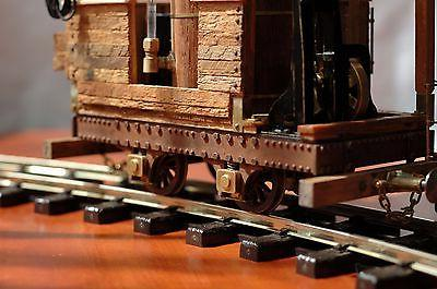 Working train vintage timber spectacularly detailed