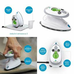 Mini Steam Iron with Dual Voltage Travel Bag Non-Stick Solep