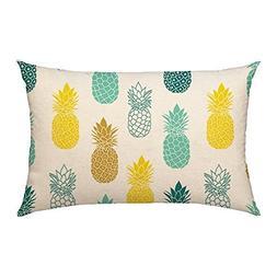 4TH Emotion Pineapples Throw Pillow Cover Summer Beach Decor