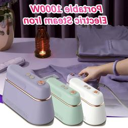 Portable 1000W Electric Steam Iron Handheld Fabric Clothes L