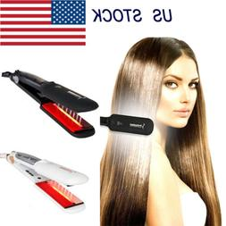 Professional Infrared Agran Oil Ceramic Flat Iron Steam Hair