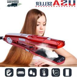 professional salon ceramic steam hair straightener vapor