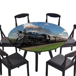 Round Tablecloths Historic steam Train Passes Through The Fi