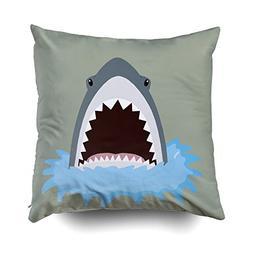 Musesh shark Cushions Case Throw Pillow Cover For Sofa Home
