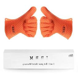 Silicone Cooking Gloves - Non-Slip Potholders for Kitchen Co