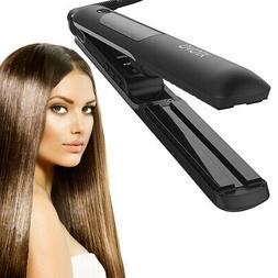 Steam Hair Straightener 1 Inch Ceramic Flat Iron Professiona