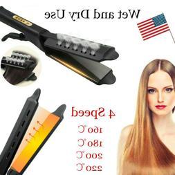 Steam Hair Straightener Ceramic Tourmaline Ionic Flat Iron P