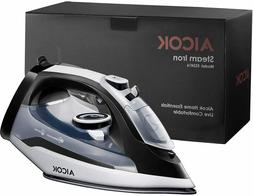 Steam Iron, 1400W Non-Stick Soleplate Iron for Clothes, Vari