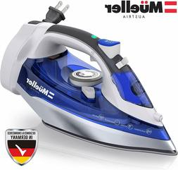 Steam Iron, Large Water Tank, Nonstick Stainless Steel Solep
