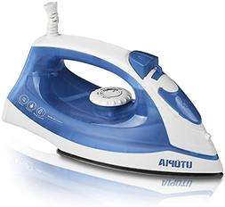Utopia Home Steam Iron with Nonstick Soleplate - Small Size