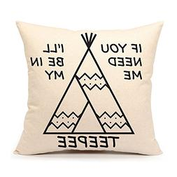 4TH Emotion Teepee Throw Pillow Case Funny Quotes Cushion Co