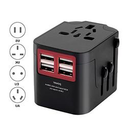 Universal USB Travel Power Adapter, All In One International