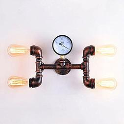 Vintage Industrial Steampunk Wall Light Fixtures Water Pipe