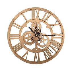 SING F LTD Wall Clock,Vintage Retro Iron Roman Numeral Steam
