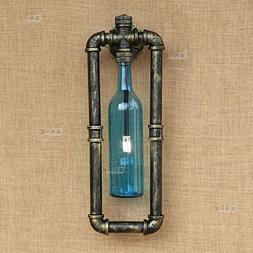 CGJDZMD Wall Lamp Simple Bright Glass Bottle Wall Light Stea