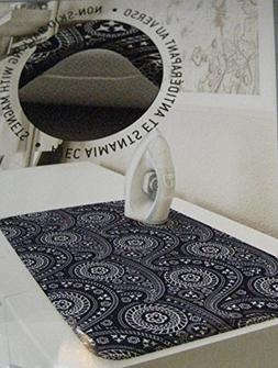 "Westex Portable Ironing Pad 29"" X 20"" 100% Cotton Blue Flora"