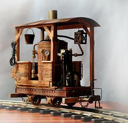 Working steam engine. This train vintage timber carrier spec